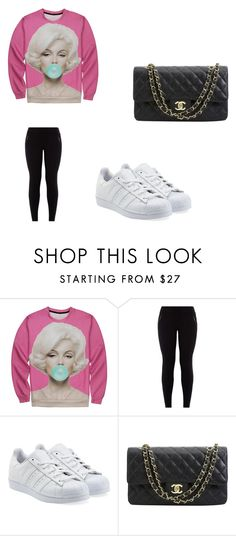 """""""Untitled #258"""" by moonlightprincess93 on Polyvore featuring adidas Originals and Chanel"""