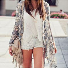Women-Blouse-Floral-Summer-Long-Casual-Kimono-Tassel-Fringe-Shawl-Cardigan