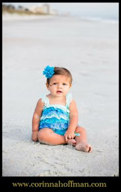 © Corinna Hoffman Photography - www.corinnahoffman.com - Family Session - Jacksonville Beach, Florida - Jacksonville, FL Family Photographer - Baby Girl in Blue