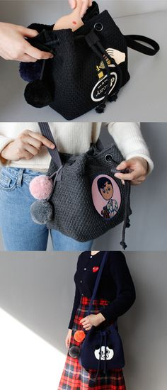 Ooh La La Knit Bucket Bag
