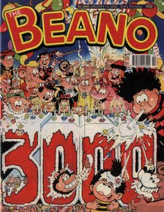 The 3000th edition of The Beano - brings lots of characters together.
