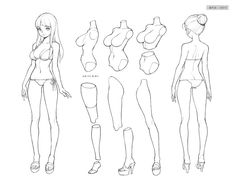 Fantasting Drawing Hairstyles For Characters Ideas. Amazing Drawing Hairstyles For Characters Ideas. Drawing Female Body, Body Reference Drawing, Art Reference Poses, Drawing Base, Manga Drawing, Body Drawing Tutorial, Animation, Anime Poses, Anatomy Art
