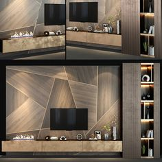 Modern Tv Cabinet, Tv Cabinet Wall Design, Tv Wall Design, Tv Unit Interior Design, Tv Unit Furniture Design, Modern Interior Design, Modern Tv Room, Modern Tv Wall Units, Modern Living