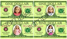 American Girl Doll Dollars for child to earn to get a doll!