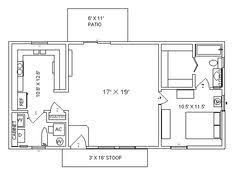 Image result for tiny 1 bedroom floor plans   Barn Plans ...