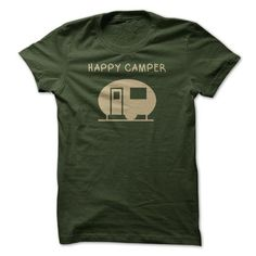 Happy Camper Tee T Shirts, Hoodie Sweatshirts