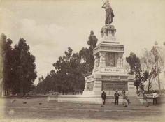 Monumento a Cuauhtémoc, 1887, año de su inauguración