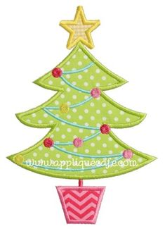 christmas tree 12 applique design - Christmas Tree Applique