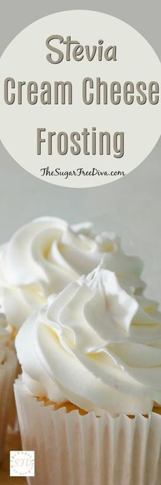 Stevia Cream Cheese Frosting Enjoy this recipe for sugar free cream cheese frosting using Stevia as the sweetener. This is a tasty frosting that easy to make. Diabetic Desserts, Low Carb Desserts, Diabetic Recipes, Just Desserts, Low Carb Recipes, Stevia Desserts, Diabetic Cake, Diabetic Foods, Low Sugar Snacks