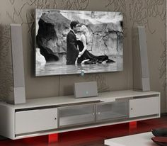 Caprice, Contemporary 4 Door TV Unit in White High Gloss and Glass or Croco Door Combinations by Status Italy