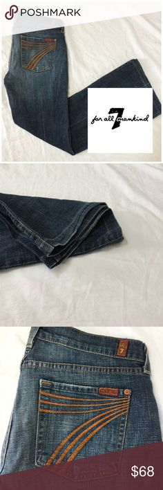 """7 For All Mankind Dojo Jeans 👖 All measurements are taken laying flat and are estimated. Rise 8"""" Inseam 30"""". 7 For All Mankind Jeans Flare & Wide Leg"""