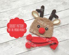 crochet reindeer hat pattern - Google Search