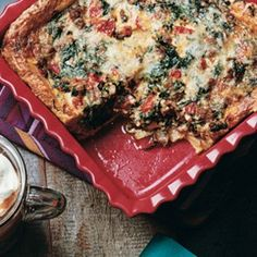 Mare sausage roasted red pepper and spinach torta rustica v