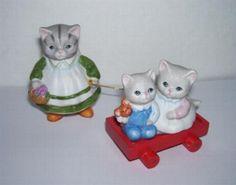Schmid Kitty Cucumber Happy Riders Figurine Set Muffin Pickles Wagon