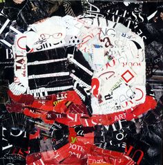 Artists Of Texas Contemporary Paintings and Art: torn paper collage