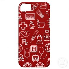 Cute white red medical icons design custom iPhone 5 covers