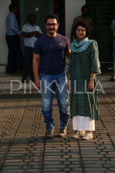 Aamir Khan and wife Kiran Rao return to Mumbai
