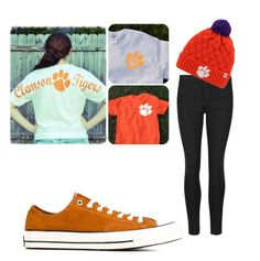 """Just because the Clemson/Carolina game is coming up"" by gmuffin02 on Polyvore featuring beauty and Converse"