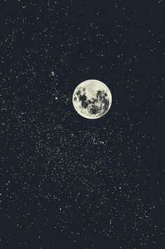 Обои, звездное небо, месяц,луна