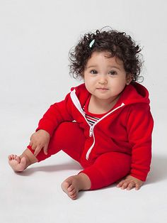 For homemade Flash costume?  American Apparel - Infant Flex Fleece Zip Hoodie