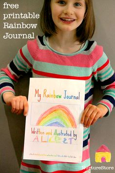 Rainbow theme free printable journal pages for kids - great St. Patrick's day activity, writing prompts and doodle pages.