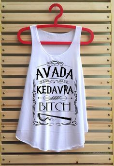 Avada kedavara bitch shirt Harry potter shirt tank top von TCFABRIC, $14.99
