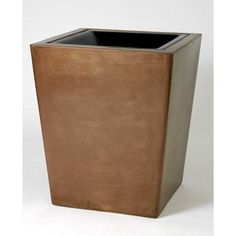 Allied Molded Products St. Louis 30-Gal Hide-A-Butt Receptacle Waste Basket Color: White Honey