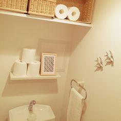 トイレ/トイレットペーパー/無印良品/一人暮らし/賃貸/1K…などのインテリア実例 - 2015-03-03 06:57:06 | RoomClip(ルームクリップ)