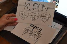 Kupon Miłości Joye'a Diy Christmas Gifts, Diy Gifts, Presents, Paper Crafts, Valentines, Romantic, Birthday, Party, How To Make