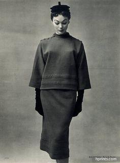 Jacques Fath (Couture) & Balenciaga 1951 Photo Philippe Pottier, Racine — original fashion print