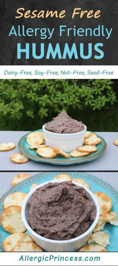 Hummus without Tahini is creamy and delicious. Cuisinart Food Processor, Food Processor Recipes, Nut Free, Dairy Free, Gluten Free, Easy Hummus Recipe, Chocolate Hummus, Lactose Free Diet, Cooking Dried Beans