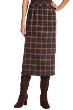 Wool Long Slim Skirt | Chadwicks of Boston