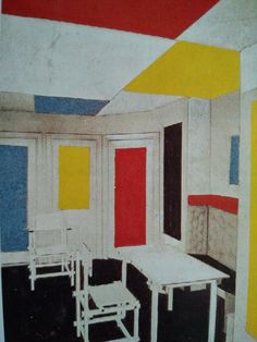 Theo van Doesburg - Kleurmodel kamer, 1919 Theo Van Doesburg, Arno, Painting, Kunst, Painting Art, Paintings, Painted Canvas, Drawings