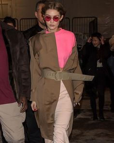 Gigi Hadid steps out between shows with a pop of pink  #nyfw  via MARIE CLAIRE AUSTRALIA MAGAZINE OFFICIAL INSTAGRAM - Celebrity  Fashion  Haute Couture  Advertising  Culture  Beauty  Editorial Photography  Magazine Covers  Supermodels  Runway Models