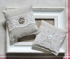 Linen and lace lavender bags