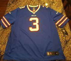NIKE E.J. MANUEL  3 BUFFALO BILLS BLUE NFL FOOTBALL JERSEY MEN SIZE XL  Stitched 99e61741a
