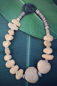 """Love this """"Heart Uganda"""" necklace from One Mango Tree! Made from all natural materials!"""