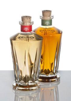 Espiritus Mexicanos just launched one of the first Premium Mezcal brands called Delirio de Oaxaca (Bottle Design Mezcal) Mezcal Tequila, Best Tequila, Tequila Bottles, Alcohol Bottles, Liquor Bottles, Perfume Bottles, Wine And Liquor, Wine And Beer, Mezcal Brands