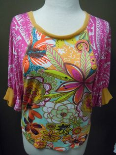 Ivy Jane Multi-Print Dolman Sleeve Top. Fun, Flirty, and Perfect for Summer!! $125.