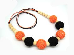 1pc sale crochet  nursing necklace ,knit ball necklace,Crochet Necklace halloween safe organic NWr1388. Yesterday's price: US $8.99 (7.42 EUR). Today's price: US $7.28 (6.01 EUR). Discount: 19%.