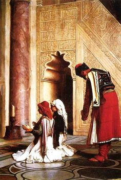 Jean-Léon Gérôme (Fench , 1824 – 1904)  –  Young Greeks at the Mosque