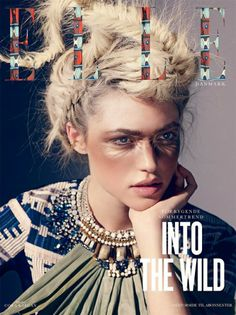 Tribal hair, tribal makeup, fashion magazine cover, fashion cover, magazine c Pelo Editorial, Beauty Editorial, Editorial Fashion, Tribal Makeup, Tribal Hair, Fashion Magazine Cover, Fashion Cover, Magazine Covers, Goa Style