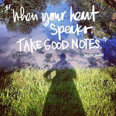 When your heart speaks // shutterbean