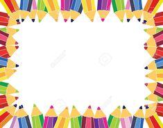 Cute School Border and Frames Scrapbook Frames, School Scrapbook, Cute Powerpoint Templates, Background For Powerpoint Presentation, Graduation Certificate Template, School Border, Birthday Charts, Star Students, Cute Frames