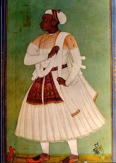 African Courtier in the Islamic Deccan Sultanates, Golconda, India, century Mughal Paintings, Indian Paintings, Courtier, India Art, African Diaspora, We Are The World, Portraits, Art History, Ancient History