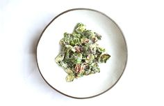 Roasted Brussels Sprout Salad with Toasted Pecans and Raisins