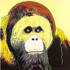 pop art, orangutan, andi warhol, warhol print, taylor galleri, andy warhol, artwork