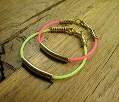 Ultra Thin Neon Bracelets  by Rocks Paper Metal Jewelry