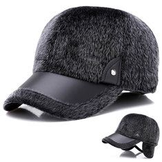 Artificial Marten Hair Earmuffs Baseball Cap Peaked Hat. 2df90bd68711