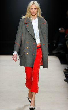 red trim so pretty at Isabel Marant http://bit.ly/xNUpYS